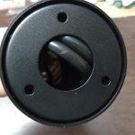 Záhradná LED 24V okrúhla čierna uchytenie